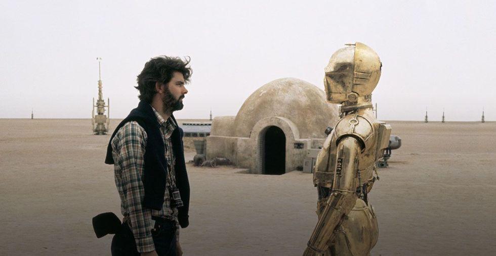 George Lucas, Anthony Daniels'ın canlandırdığı droid C-3PO ile