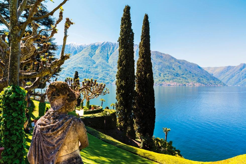 Como Gölü'nü izleyen bir başka görkemli yapı Villa del Balbianello'nun görkemli bahçesi, 'Star Wars' gibi filmlerin setiydi.