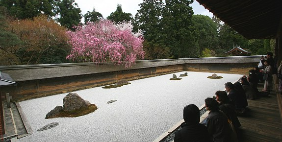 Ryoanji Tapınağı'nın Zen bahçesi